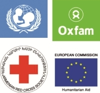 Армянский кабинет детского фонда ООН, армянский филиал Оксфама, Армянское обществоКрасного креста, Европейская комиссия Гуманитарной помощи и Департамент гражданской защиты (EC-ECHO)