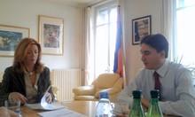 Встреча А. Геворкяна с исполнительным секретарем GRETA