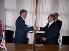 Подписание Меморандума о взаимопонимании по сотрудничеству между марзом Тавуш и Центральным останом Ирана