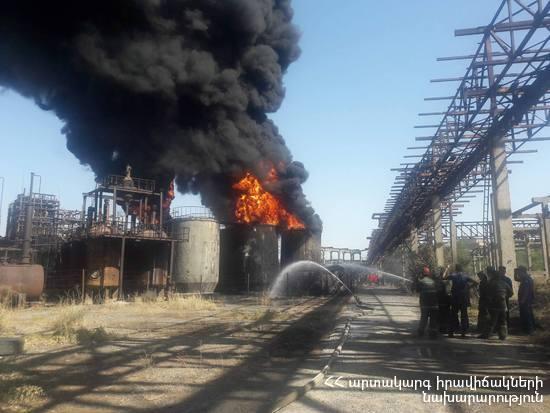 Пожар на химзаводе «Наирит» в Ереване: вследствие угара пострадали трое спасателей