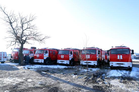 МЧС России подарило Армении десять пожарных машин