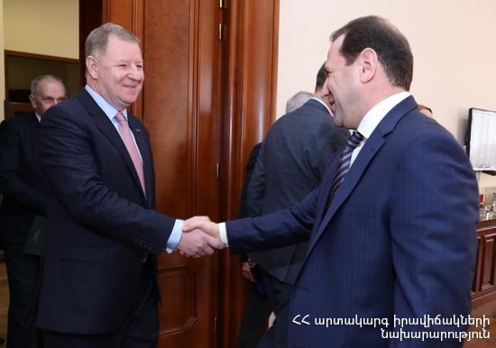 Глава МЧС Армении принял делегацию из Литвы