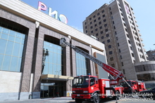 """Implementation of Program """"Fireproof Yerevan"""" is Underway: Firefighting Drills Conducted at """"Rio Mall"""" Shopping Center"""