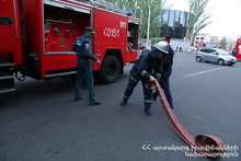 """Fire Safety Rules Maintenance are Compulsive in Major Trading Centers: Training Exercise in """"Yerevan City"""" Supermarket Chain"""