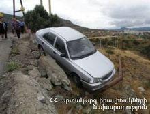 Ավտոմեքենան դուրս է եկել երթևեկելի հատվածից և հայտնվել դաշտում. կա տուժած