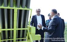 Министр по ЧС РА посетил Арагацотнскую область, запущена противоградовая защитная ракетная система