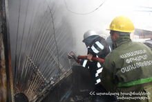 The Rescuers Extinguished the Fire in a Small House