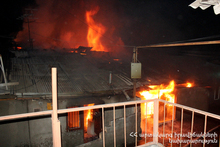 Fire at the end of Meghradzor village