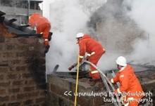 Fire in a Manufacturing Workshop of Furniture