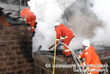 The rescuers extinguished the fire broken in Dalar village