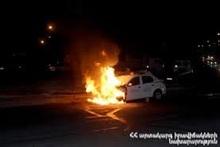 Сгорел автомобиль: пострадавших нет