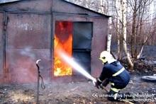 Пожар в городе Шамлуг