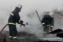 Fire in Agarak town: there were no casualties