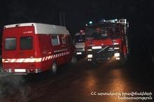 Փրկարարները մարել են ավտոմեքենայում բռնկված հրդեհը