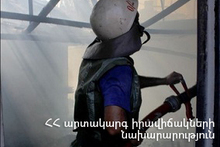 The rescuers extinguished the fire broken out in a small house: there were no casualties