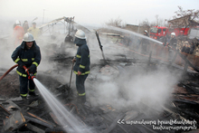 The constructions of the roof burnt: there were no casualties