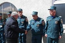 ԱԻ նախարար Ֆելիքս Ցոլակյանն այցելել է Լոռու հրշեջ-փրկարարական ջոկատներ