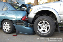 Cars collided: there were casualties