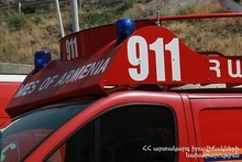 Fire in the courtroom in Spitak residence of court of general jurisdiction of Lori Province