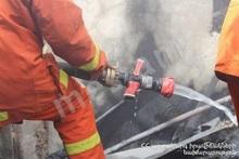 Fire in Vanadzor town: a house burnt