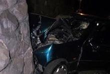 Ավտոմեքենան բախվել է պատին. կան տուժածներ