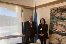 Ֆելիքս Ցոլակյանը Ժնևում հանդիպել է ՄԱԿ-ի ԱՌՆ գրասենյակի  հատուկ ներկայացուցիչ Մամի Միզուտորիի հետ