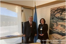 Feliks Tsolakyan met Mami Mizutori, UN Special Representative of the Secretary-General for Disaster Risk Reduction in Geneva