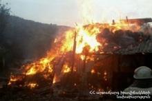 Пожар в хлеву
