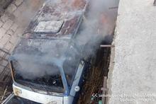 Автобус полностью сгорел: пострадавших нет
