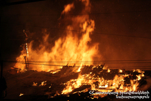 Пожарные-спасатели потушили пожар, вспыхнувший на крыше склада: пострадавших нет