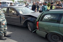 5 cars collided in Babajanyan street: there were no casualties