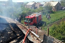 В селе Анушаван загорелась крыша одного из домов