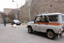 Փրկարարներն ավտոճանապարհի երթևեկելի հատվածից հեռացրել են քարը