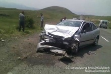 RTA near Noravan village: there were casualties