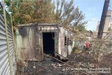 Fire in small houses near Saint Hovhannes Church