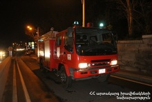 Fire in Bagrevand street of Yerevan city