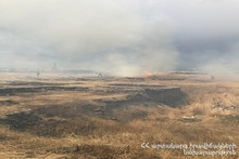 Burning under control in about 23.5 ha area