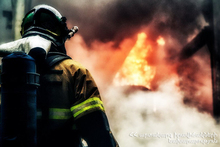 The rescuers extinguished a fire broken out in the trailer-homes: there were no casualties