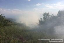 Fire in Nor Arabkir park