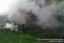 Fire in Arzni village