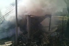 Сгорел деревянный домик. пострадавших нет