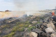 Հսկվող այրում մոտ 600 քմ տարածքում