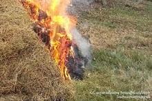 Пожар в городе Масис: пострадавших нет