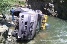 Автомобиль упал в реку: пострадавших нет