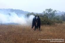 Ողջաբերդ գյուղի «Ջրովի դաշտեր» կոչվող տարածքում այրվել է մոտ 60 հա բուսածածկույթ