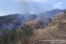 Пожарные-спасатели потушили пожары на травяных участках около 92.2 га