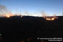 Пожар, вспыхнувший возле Мемориального комплекса Цицернакаберд, был потушен