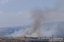 В полях сел Парпи, Агарак и Ахдзк сгорело около 55 га травяного участка