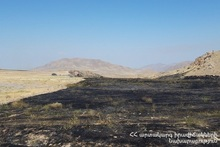 Пожар в селе Хачик