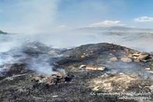 В месте под названием ''Мухну дзор'' сгорело около 18 га травяного участка